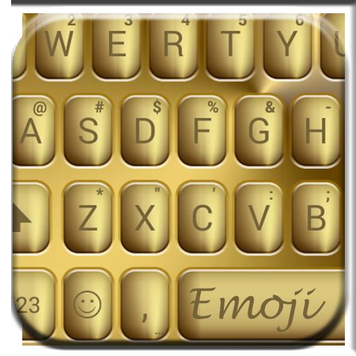 Solid Gold Emoji Keyboard