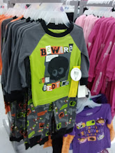 Photo: They had a bunch of cute Halloween pajamas and tshirts right at the front of the store.