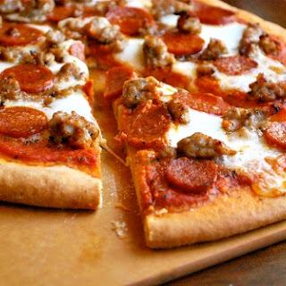 Italian Sausage and Pepperoni Pizza.
