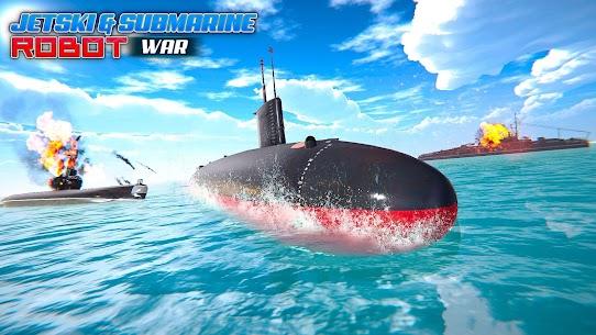 Jet Ski Robot Game: Submarine Robot Transformation 2