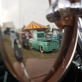 Reflective by Ian Daniells - Novices Only Objects & Still Life ( mirror, reflection, car, vintage, retro )