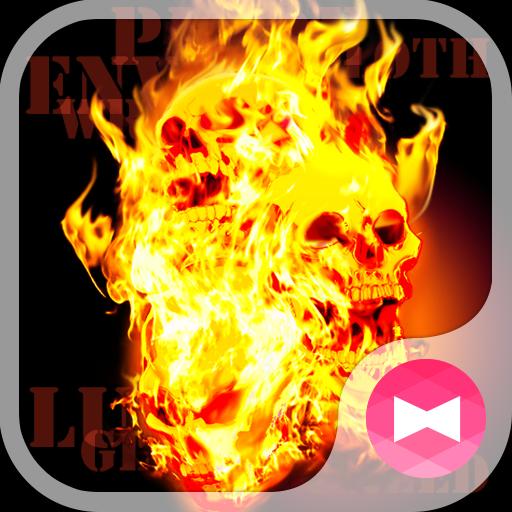 スカル壁紙 Flame Skull Icon
