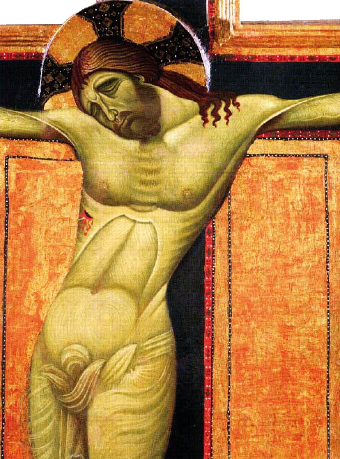 Crocifisso dipinto, tempera e oro su tavola, cm 417 (altezza) × 327, chiesa di san Francesco, Castiglion Fiorentino