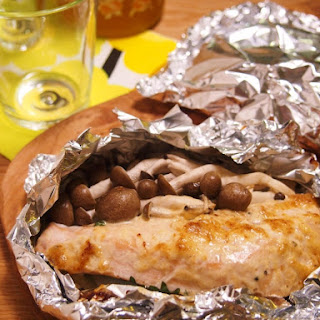 Tin Foil Wrapped Miso-Mayo Salmon