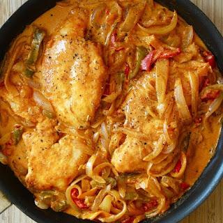 Pressure Cooker Chicken Paprikas.