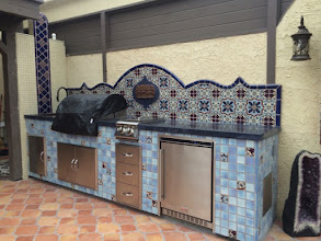 Photo: Malibu Tile Works - Outdoor Kitchen/BBQ - Private Residence - Long Beach, CA