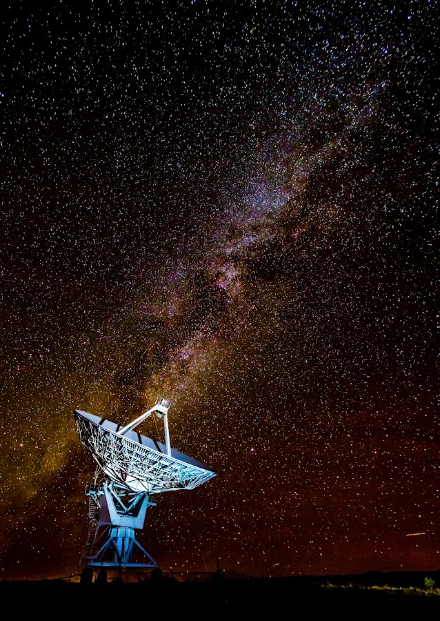 Milky Way Dish by Michael Spain - Landscapes Starscapes ( pwcstars )