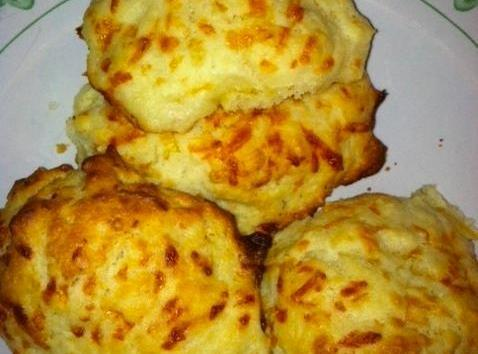 These are light, cheesy biscuits with a bit of heartiness in the cornmeal.