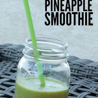 Spinach Pineapple Smoothie.
