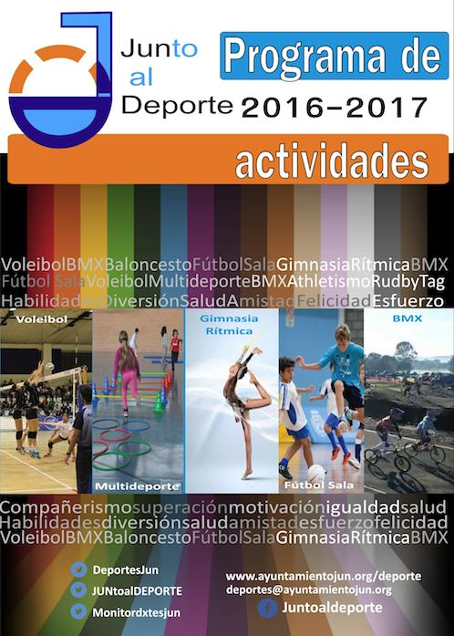 portada diptico de actividades deportivas