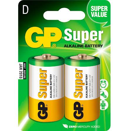 Batteri GP Super D/LR20 2/fp