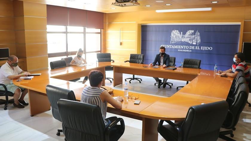 Reunión de la junta de portavoces, este miércoles en El Ejido.