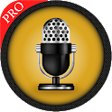 Voice recorder and audio editor Pro icon