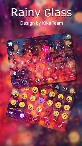 Rainy Glass  Keyboard Theme screenshots 2