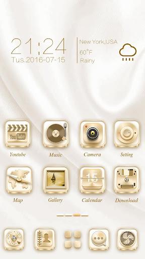 Pure Gold Go Launcher Theme
