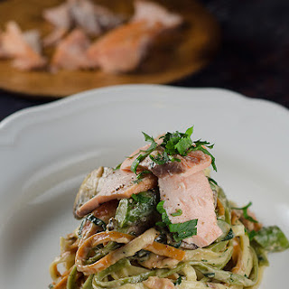 Salmon Fettuccine Mushrooms Recipes