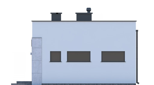 G248 - Budynek rekreacji indywidualnej - Elewacja prawa