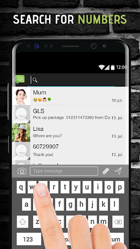 SMS from Android 4.4 with Caller ID screenshot 8