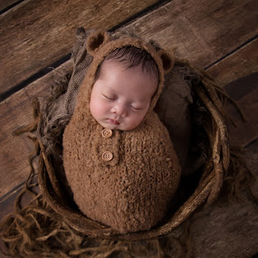 Baby Bear by Vcy Ho - Babies & Children Babies ( newborn photography )