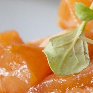 Salmon Ceviche with Avocado.