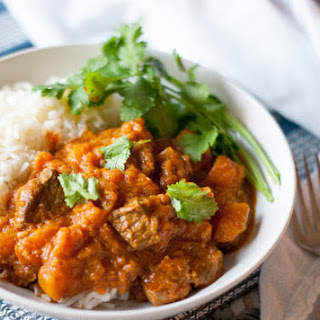 Pressure Cooker Lamb and Squash Curry.