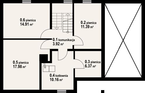 Osiek 29dw - Rzut piwnicy
