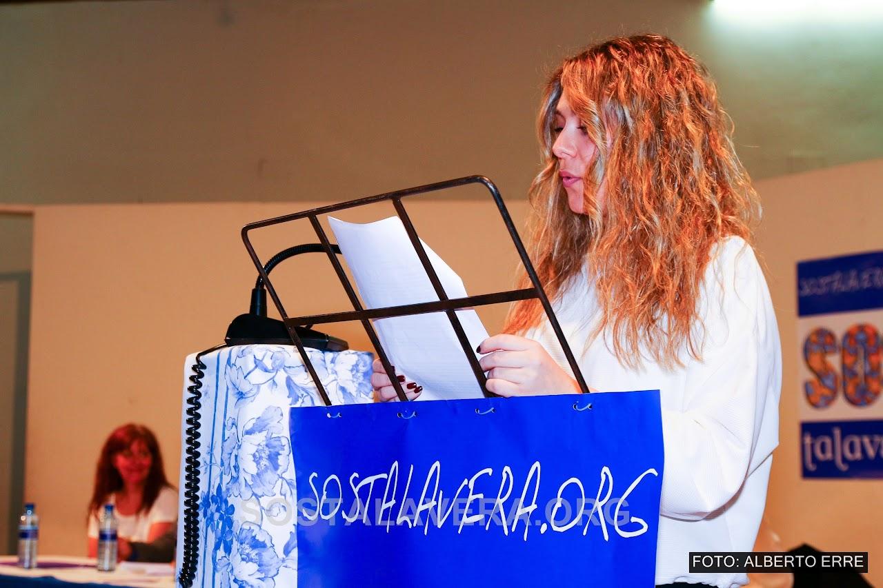 Patricia Merino presentando SOS Talavera