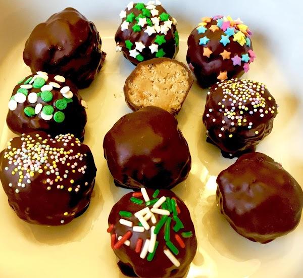Peanut Butter Balls With Crispy  Pb Centers Recipe