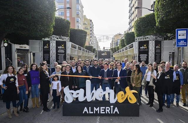 El presidente de la Diputación y el alcalde inauguraron la feria Sabores Almería.