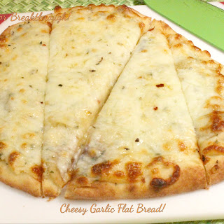 Cheesy Garlic Flat Bread!.