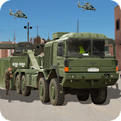 Desert Army Cargo Supply Truck:Military Cargo Duty