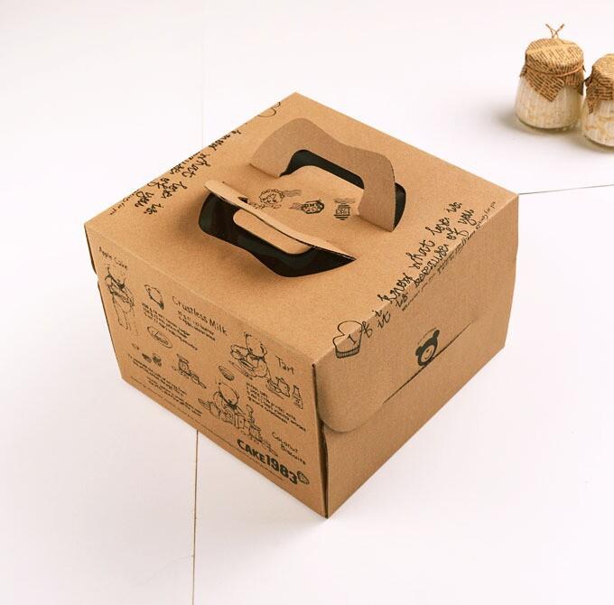Hộp bánh kem bồi carton