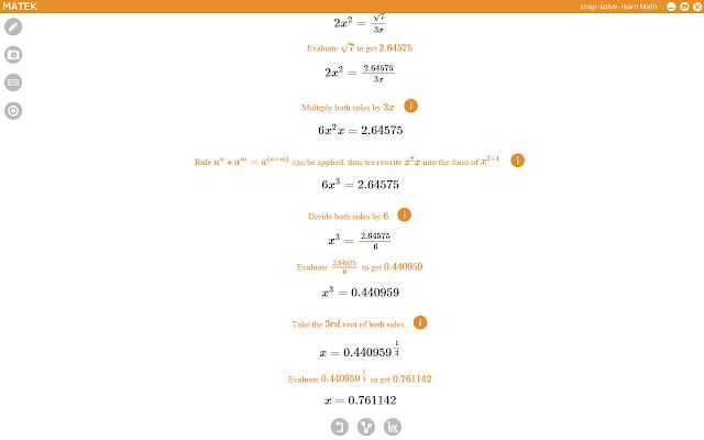 Matek Math Camera Solver