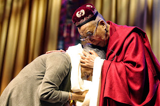 Photo: 11 May 2014 - Tsering Jampa with HH dalai lama - Ahoy Rotterdam - photo by Jeppe Schilder