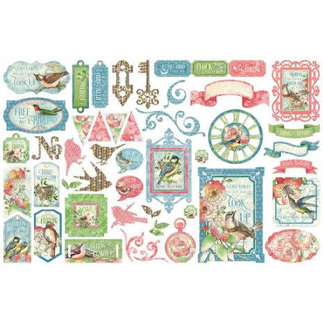 Graphic 45 Cardstock Die-Cuts - Bird Watcher
