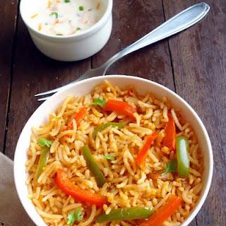 Capsicum Tomato Rice Recipes