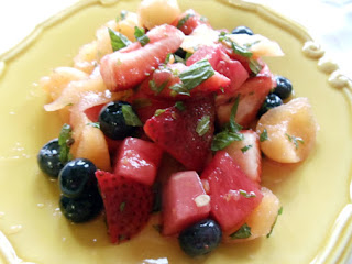 Summer Fruit Salad With Mint & Limoncello Recipe