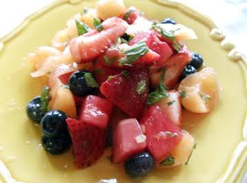 Summer Fruit Salad with Mint & Limoncello