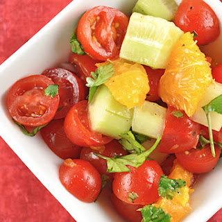 Tomato, Orange and Cucumber Salad.