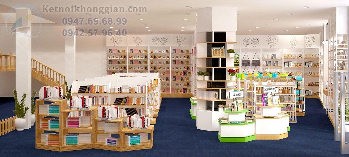 thiết kế nhà sách kết hợp khu vui chơi