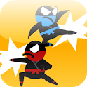 Jumping Ninja Fight : Two Player Game icon