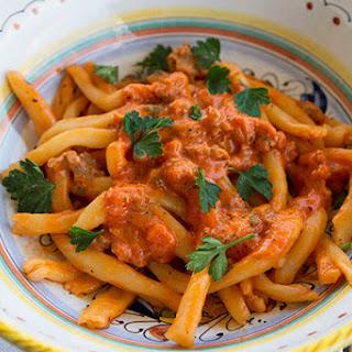 Creamy, Spicy Sausage Pasta Sauce.