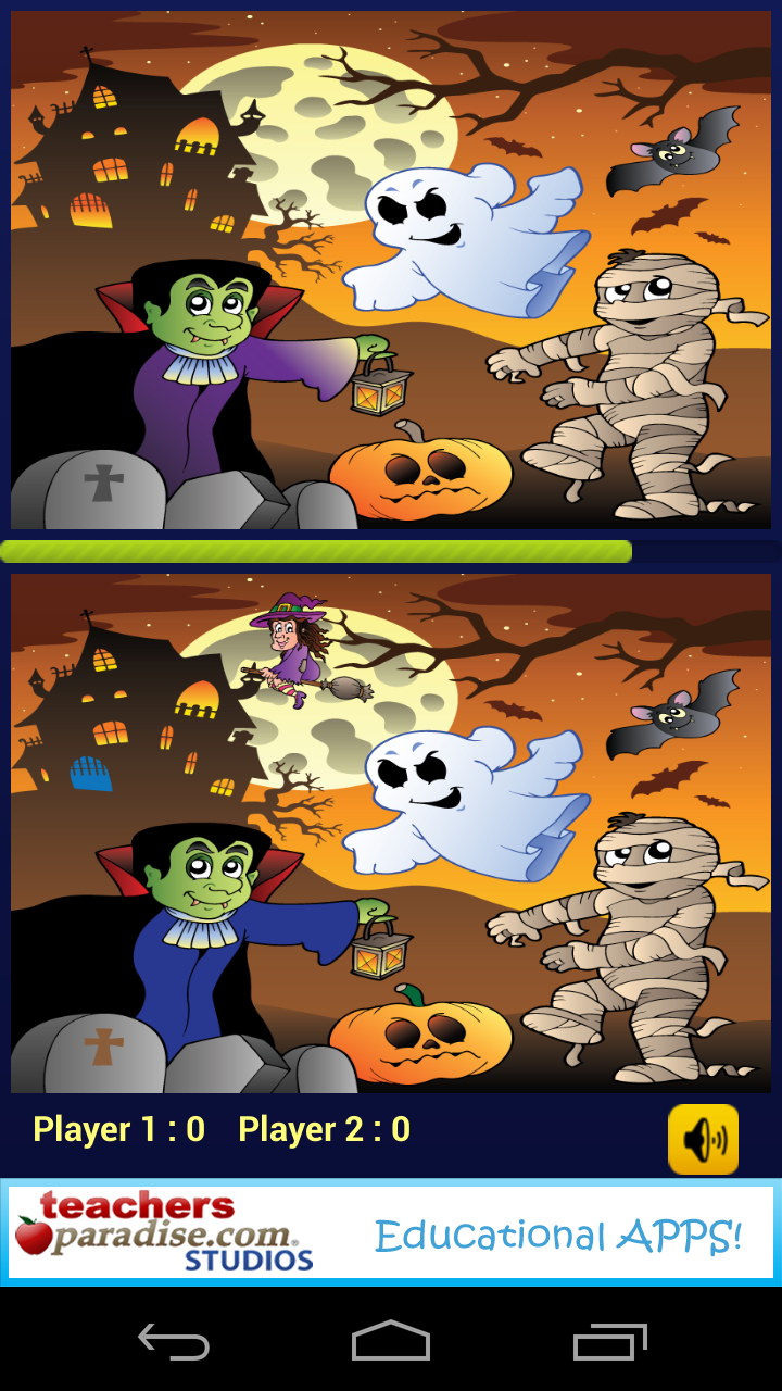 Скриншот Halloween Game Find Difference