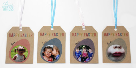 Photo: I LOVE how these turned out. These would be such a fun way to personalize a less personal Easter gift like Chocolate. The one with Benjamin giving a kiss cracks me up :)