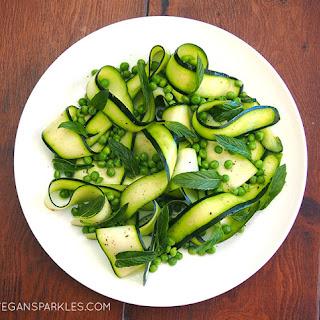 Zucchini, Pea & Mint Salad