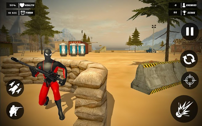 Spider vs Gangster Sniper Shooting screenshot