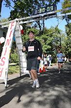 Photo: Shawn Collins finishing a 5k.