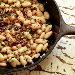 Warm White Bean Salad with Fragrant Garlic and Rosemary