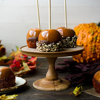 Double Dipped Chocolate Caramel Apples.
