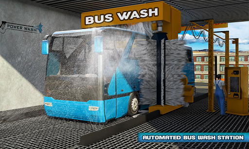 Smart Bus Wash Service: Gas Station Parking Games 1.1 screenshots 1